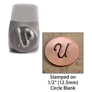 "Metal Stamping Tools Monogram Letter ""U""  6mm"