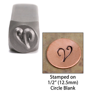 "Metal Stamping Tools Monogram Letter ""V""  6mm"