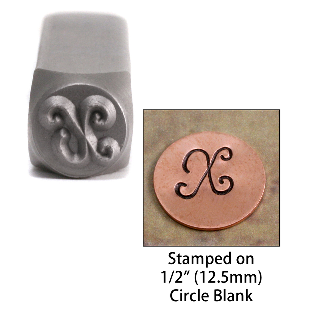 "Metal Stamping Tools Monogram Letter ""X""  6mm"