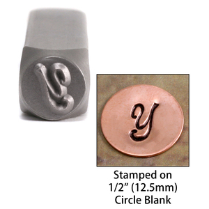 "Metal Stamping Tools NOT RESTOCKING-  Monogram Letter ""Y""  6mm"