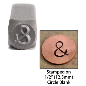 "Metal Stamping Tools Ampersand ""&""  Metal Design Stamp, 6mm"
