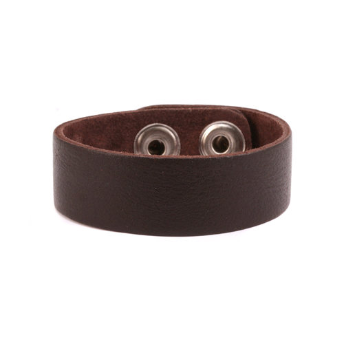 "Leather Stampable Leather Cuff 3/4"" Brown"