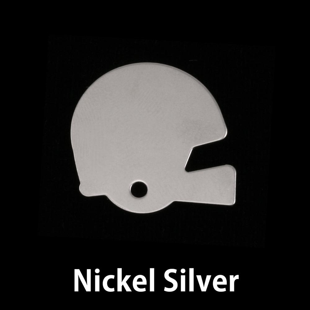 Metal Stamping Blanks Nickel Silver Football Helmet Blank, 24g