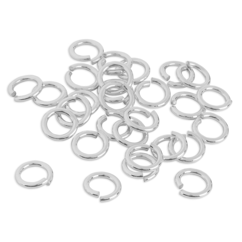 Jump Rings Sterling Silver 5mm I.D. 16 Gauge Jump Rings, 1/4 ozt