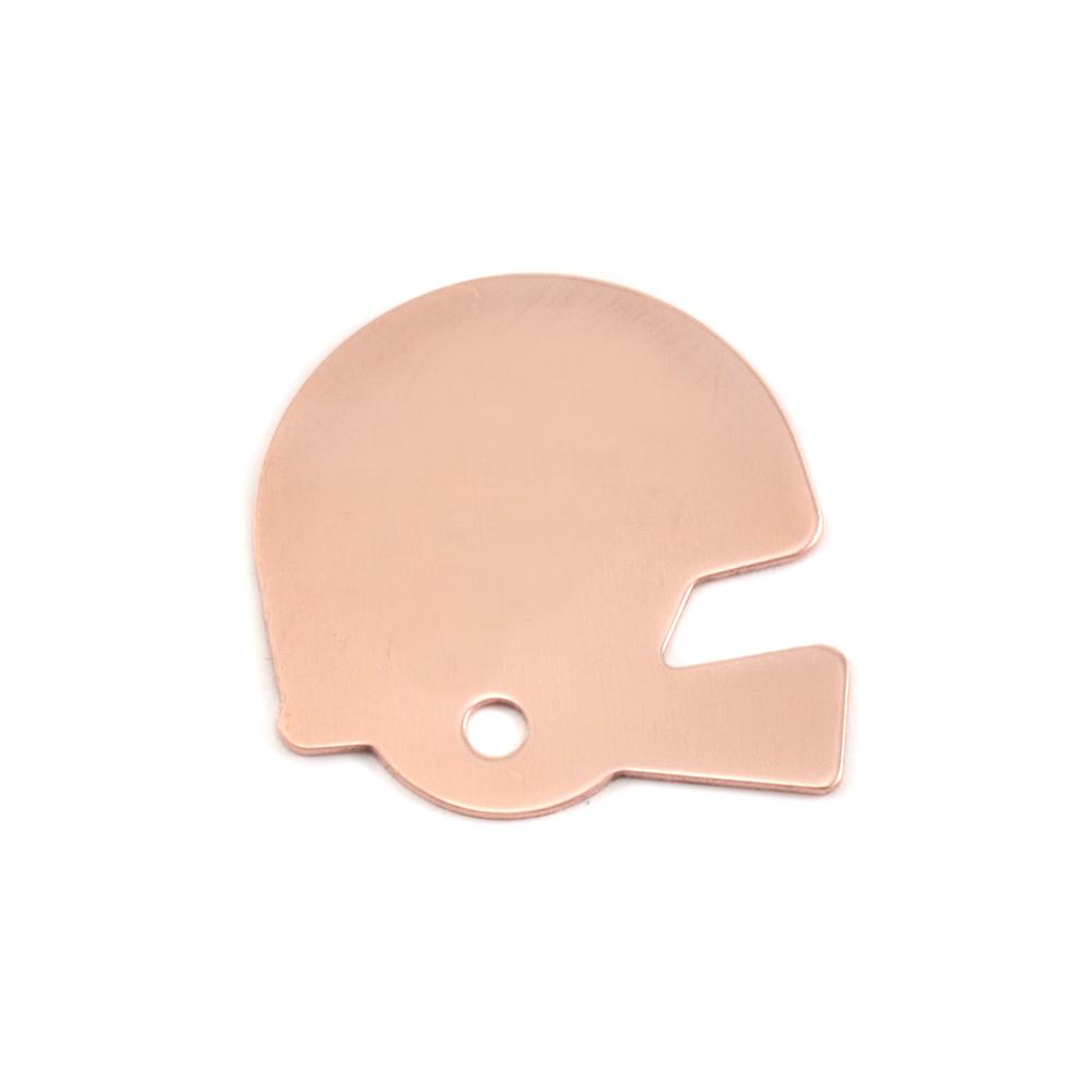 Metal Stamping Blanks Copper Football Helmet Blank, 24g