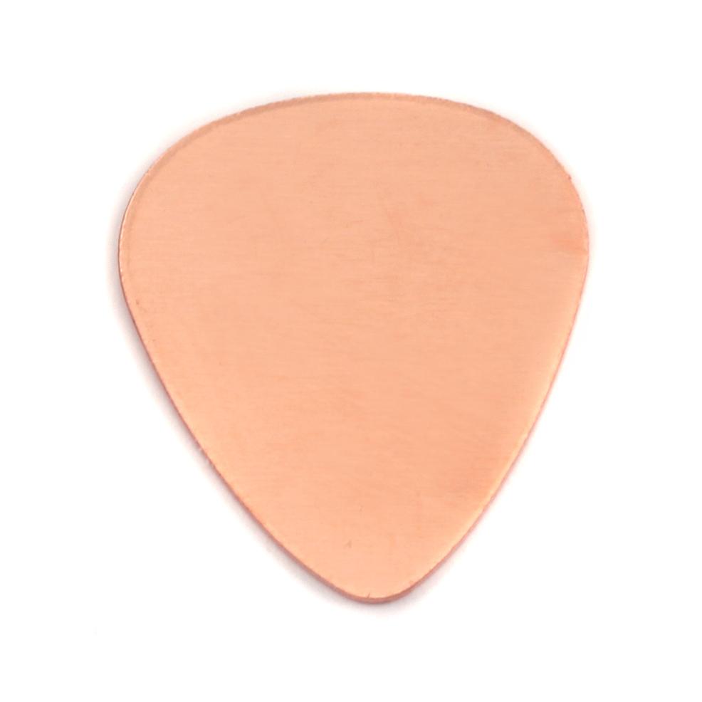 "Metal Stamping Blanks Copper ""Guitar Pick"" Blank, 18g"