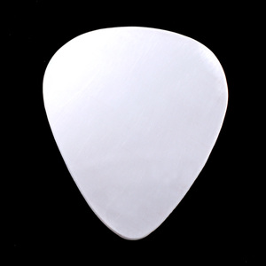 "Metal Stamping Blanks Sterling Silver ""Guitar Pick"", 30mm (1.18"") x 25.5mm (1""), 22g"