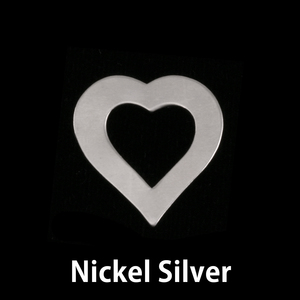 Metal Stamping Blanks Nickel Silver Small Heart Washer, 24g