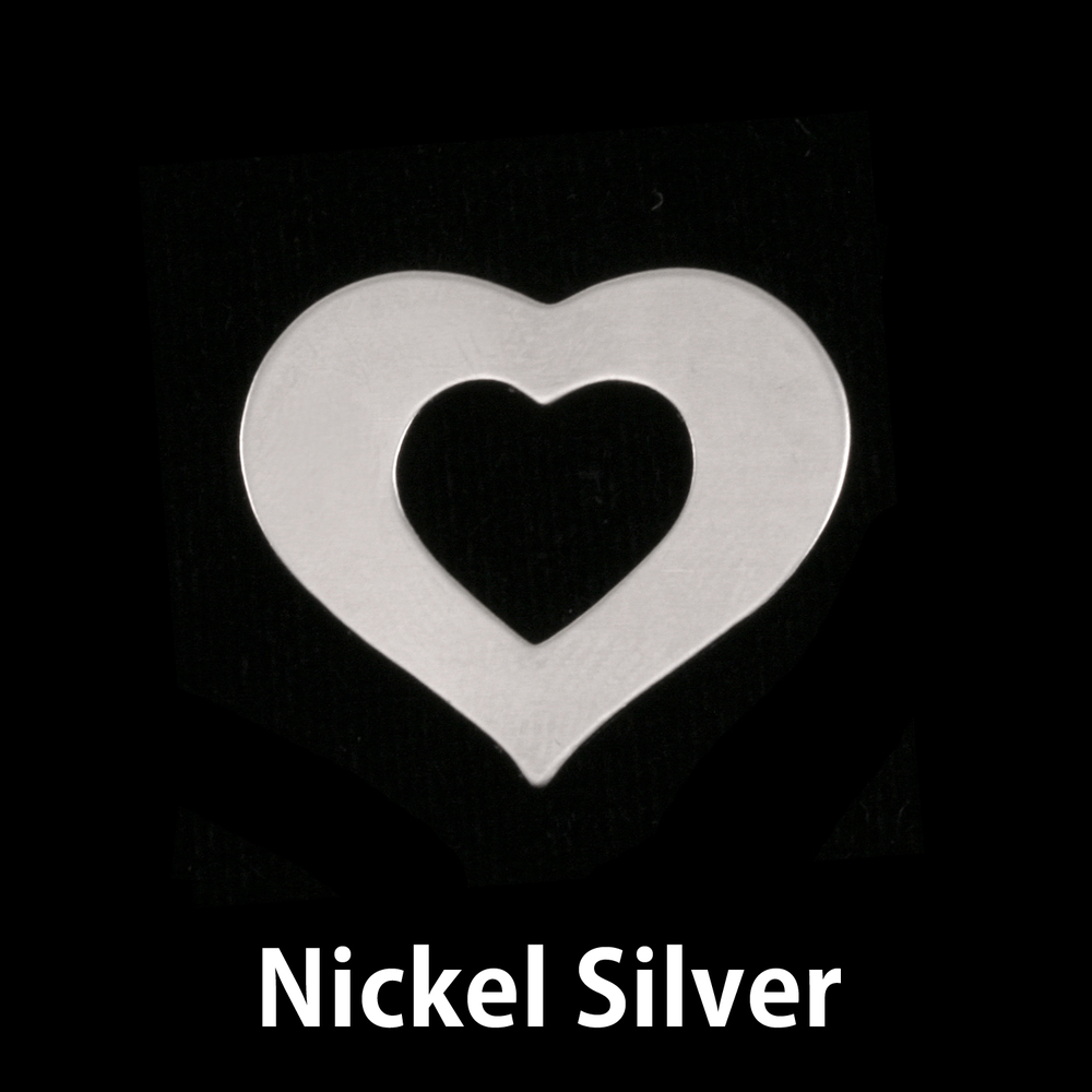 Metal Stamping Blanks Nickel Silver Medium Heart Washer, 24g