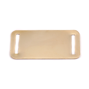 "Metal Stamping Blanks Brass Rectangle with Slits, 44.5mm (1.75"") x 20mm (.79""), 24g"