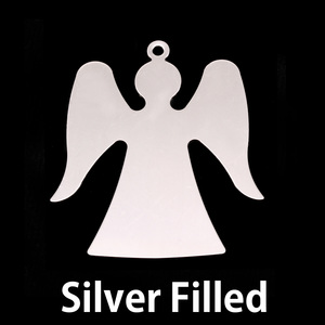 Metal Stamping Blanks Silver Filled Angel, 24g