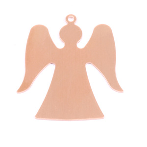 "Metal Stamping Blanks Copper Angel with Top Loop, 32mm (1.26"") x 29mm (1.12""), 24g"