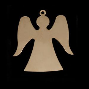 Metal Stamping Blanks Gold Filled Angel, 24g