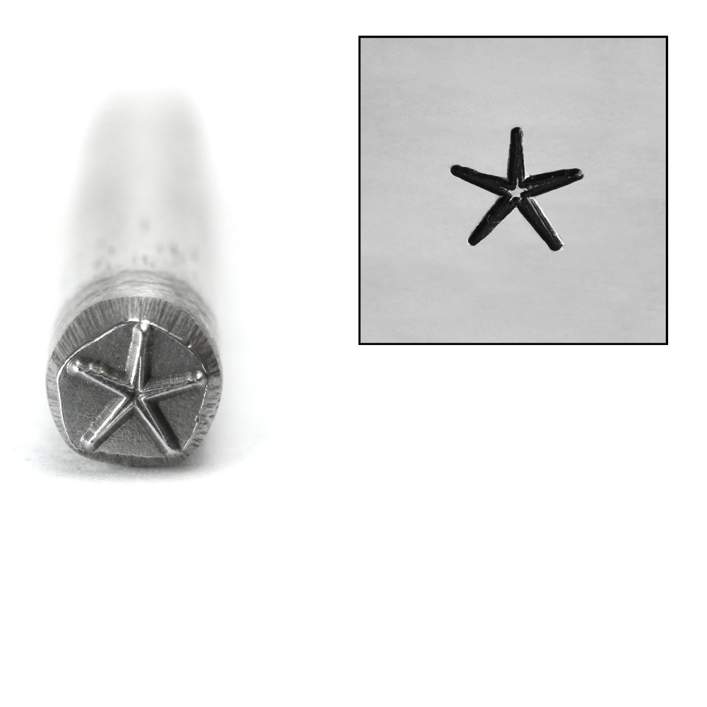 Metal Stamping Tools Simple Starfish Metal Design Stamp, 5mm