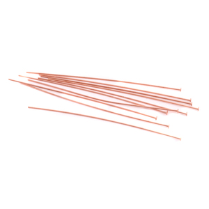 "Clasps & Findings Copper Head Pins 2"" (51.5mm), 24 gauge pack of 10"