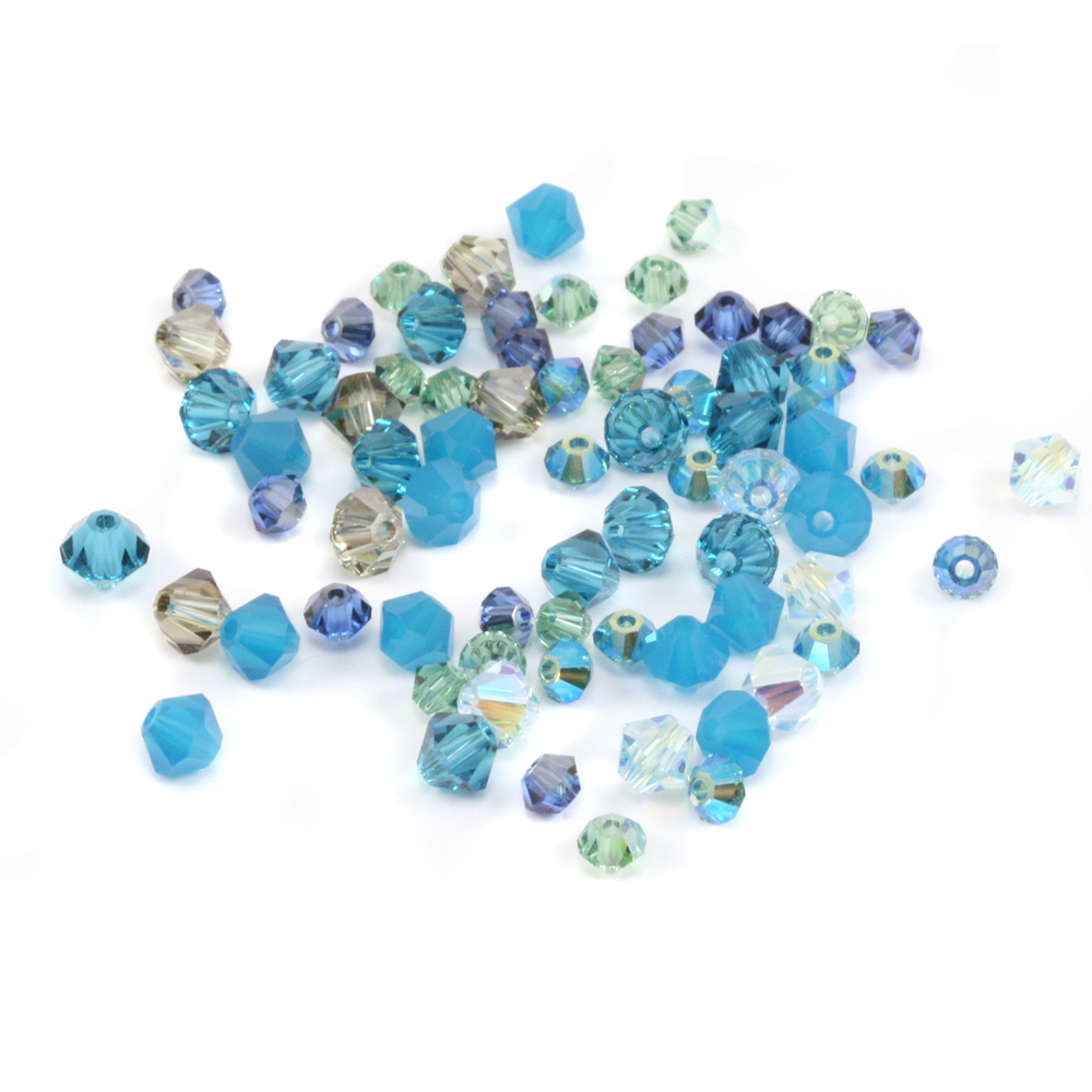 Crystals & Beads Sky Blue Crystal Mix