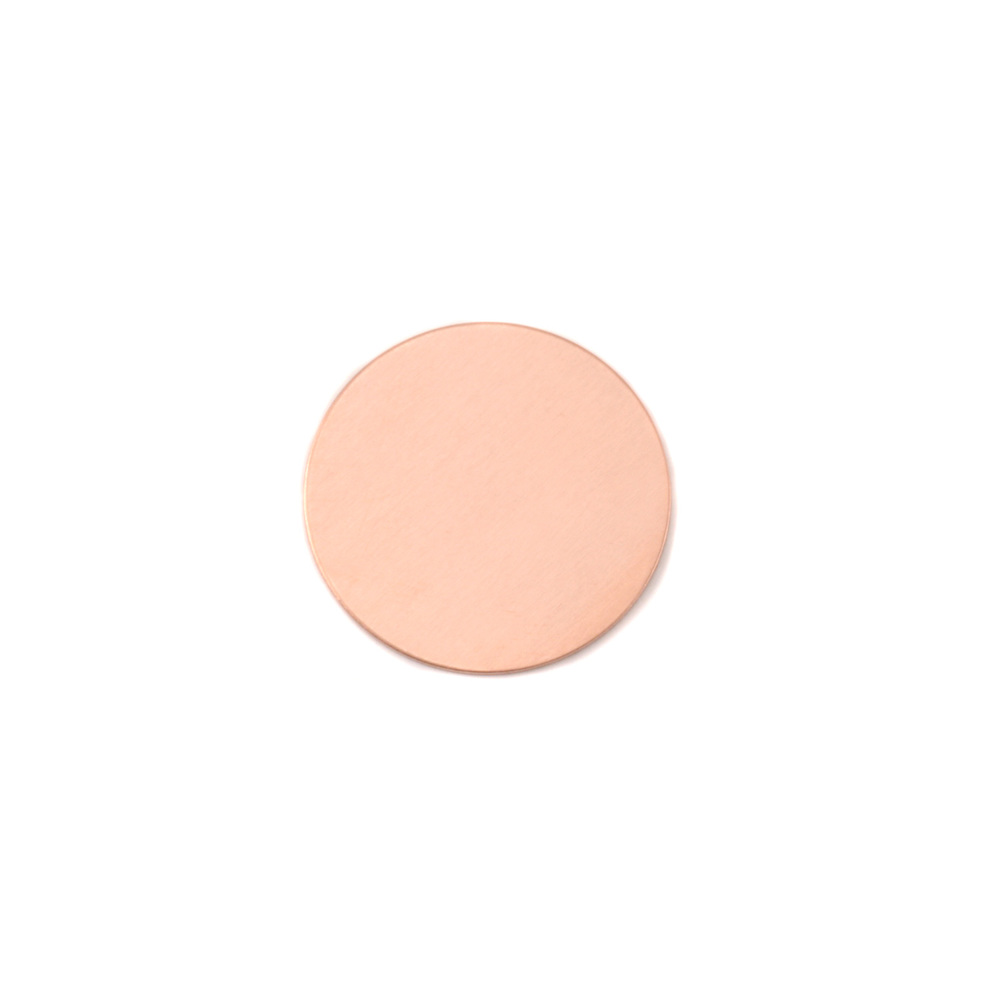 "Metal Stamping Blanks Copper Round, Disc, Circle, 12.7mm (.50""), 18 Gauge, Pack of 5"