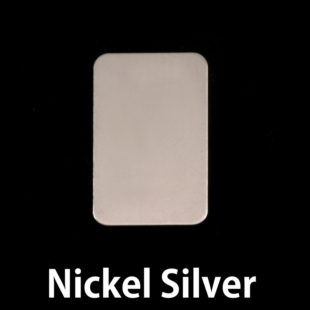 """Metal Stamping Blanks Nickel Silver Rectangle, 22mm (.87"""") x 14mm (.55""""), 24g"""