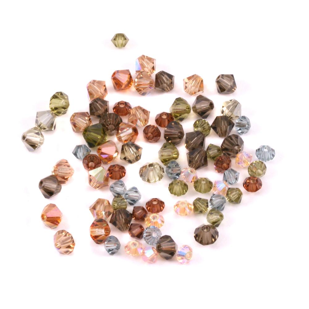 Crystals & Beads Khaki Crystal Mix