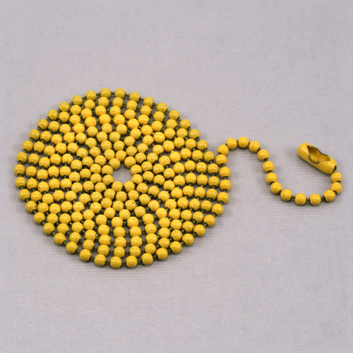 "Chain & Jump Rings Yellow Ball Chain with connector, 30"" 2.4mm"
