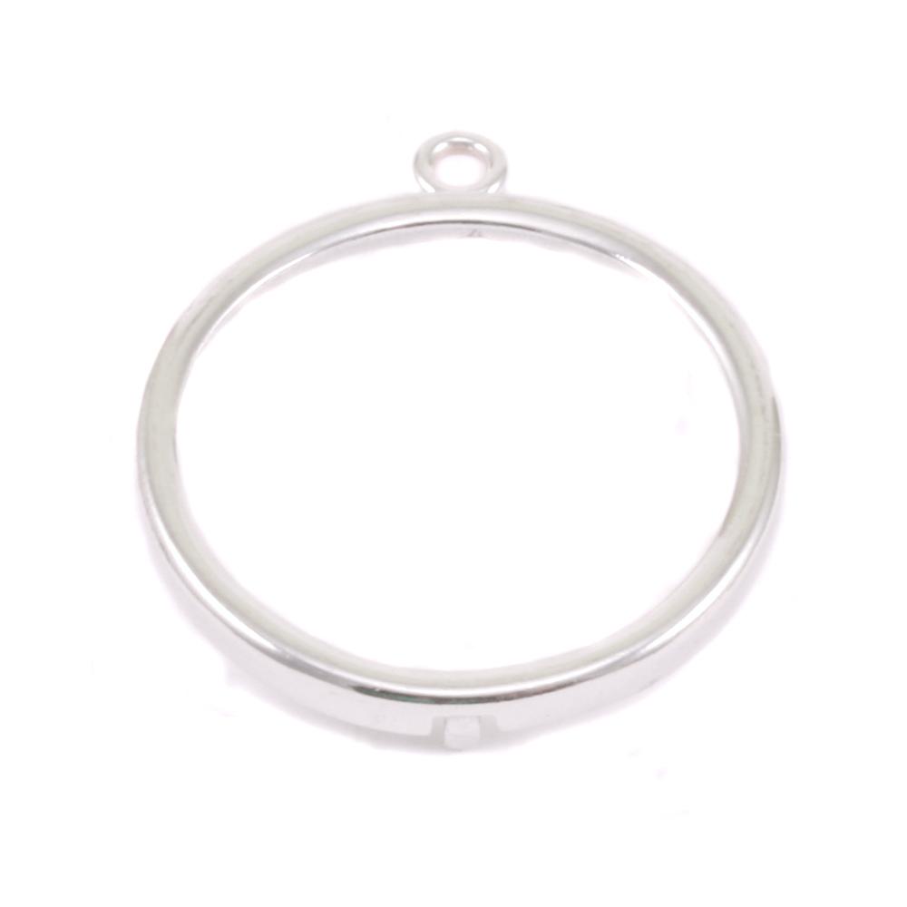 """Metal Stamping Blanks Sterling Silver 7/8"""" Smooth Circle Frame"""