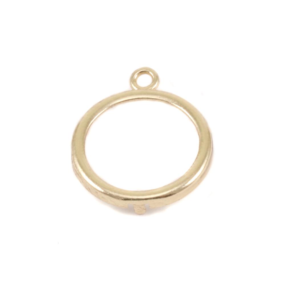 """Metal Stamping Blanks Brass Smooth Circle Frame, for 16mm (.63"""") Circles"""