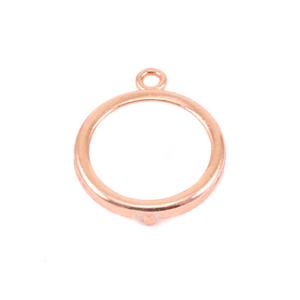 """Metal Stamping Blanks Copper 5/8"""" Smooth Circle Frame"""