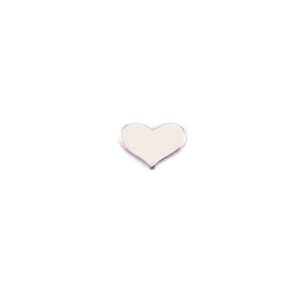 Metal Stamping Blanks Sterling Silver Classic Heart Solderable Accent, 24g - Pack of 5