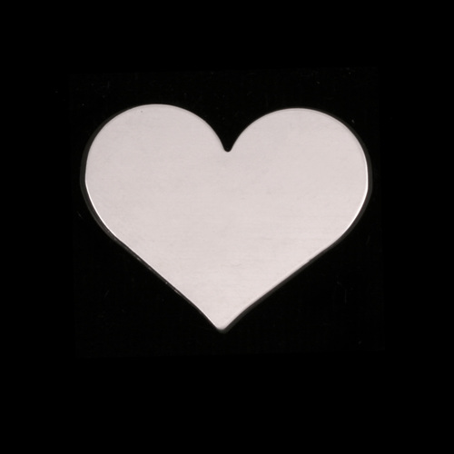 Metal Stamping Blanks Sterling Silver Medium Classic Heart, 24g