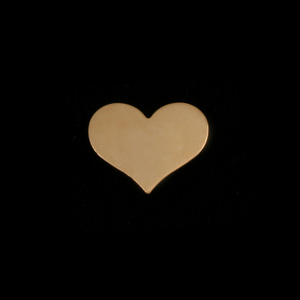 "Metal Stamping Blanks  Gold Filled Classic Heart, 13mm (.51"") x 11mm (.43""), 24g"
