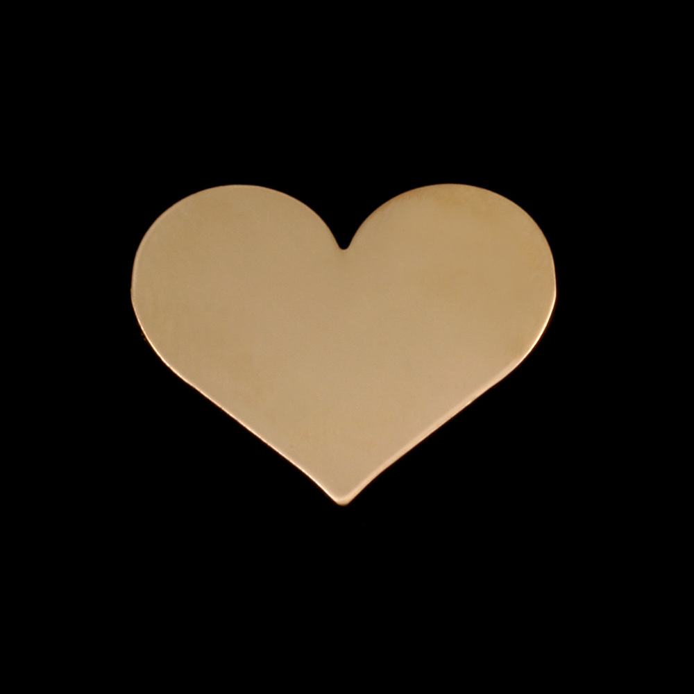 Metal Stamping Blanks Gold Filled Medium Classic Heart, 24g