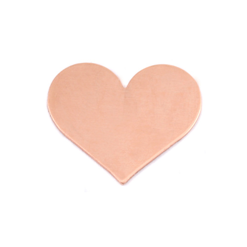 Metal Stamping Blanks Copper Medium Classic Heart, 24g