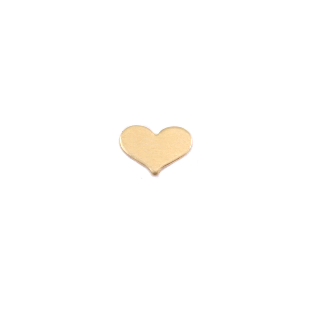 "Charms & Solderable Accents Brass Classic Heart Solderable Accent, 7mm (.28"") x 5mm (.20""), 24g - Pack of 5"