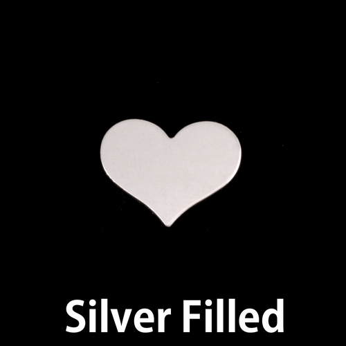Metal Stamping Blanks Silver Filled Small Classic Heart, 24g