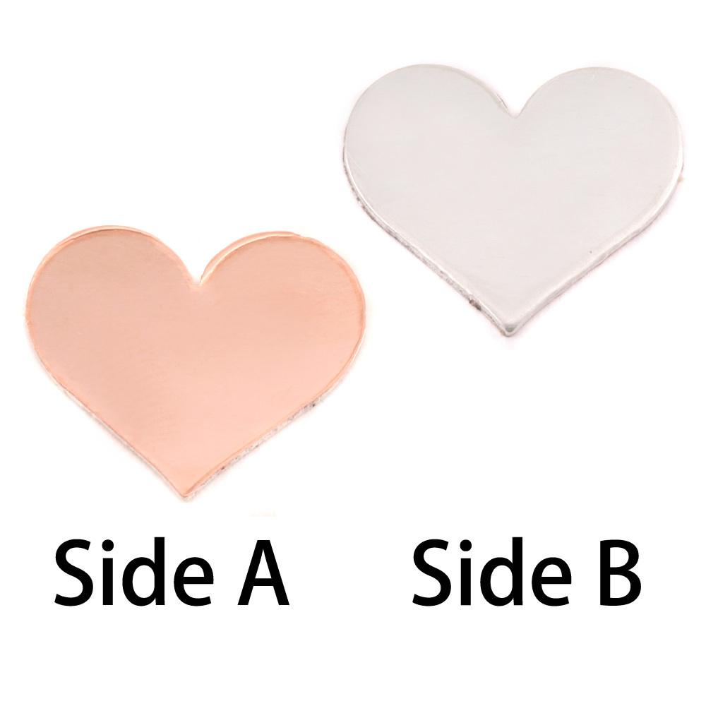 Metal Stamping Blanks Single Clad Medium Classic Heart, 18g