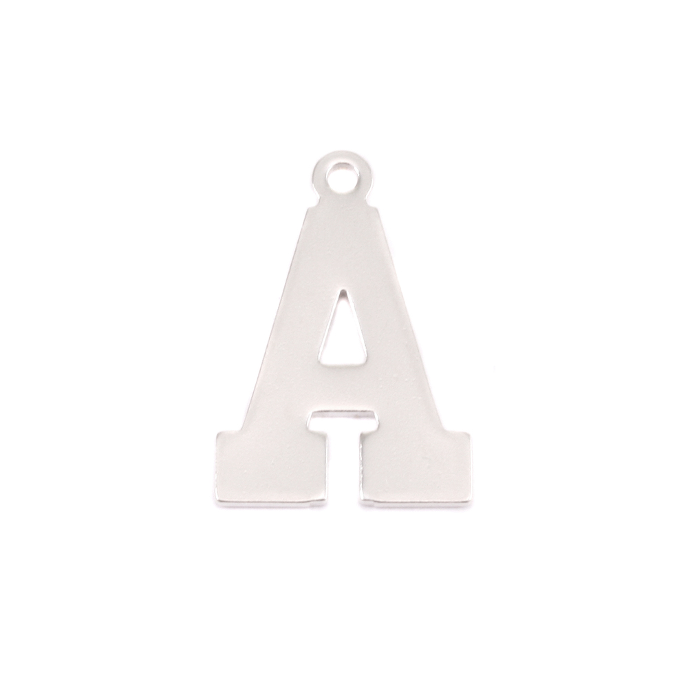Metal Stamping Blanks Sterling Silver Letter A, 20g