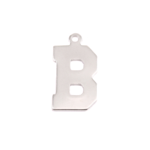 Metal Stamping Blanks Sterling Silver Letter B, 20g