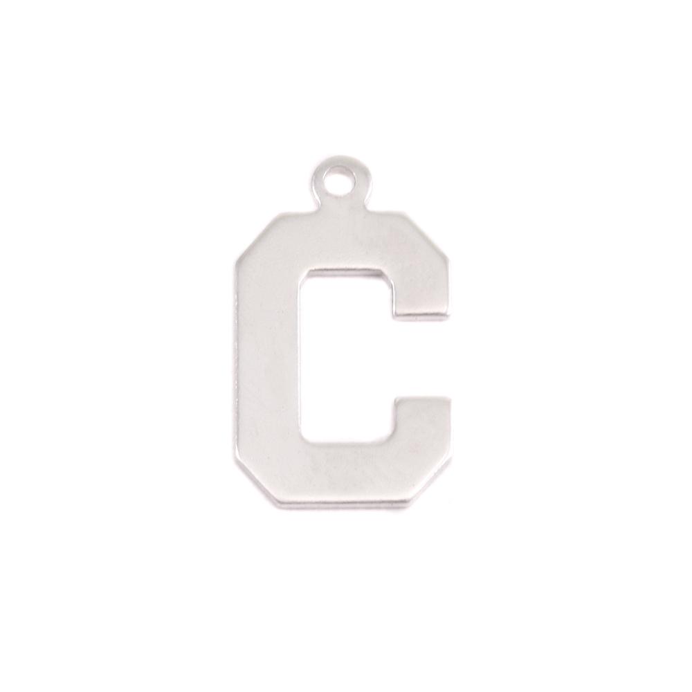 Metal Stamping Blanks Sterling Silver Letter C, 20g