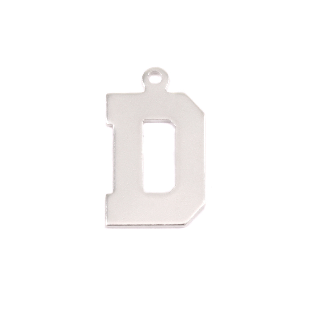 Metal Stamping Blanks Sterling Silver Letter D, 20g