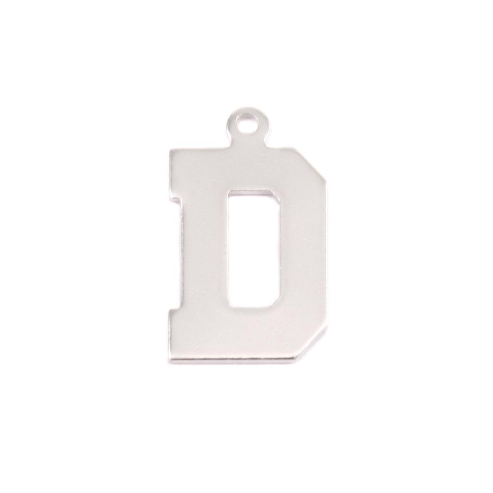 Metal Stamping Blanks Sterling Silver Letter D, 20g