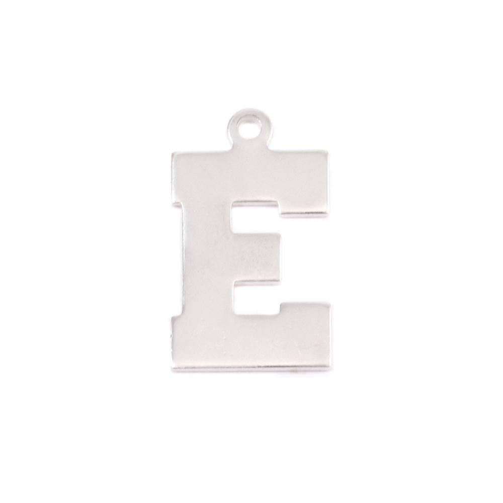 Metal Stamping Blanks Sterling Silver Letter E, 20g