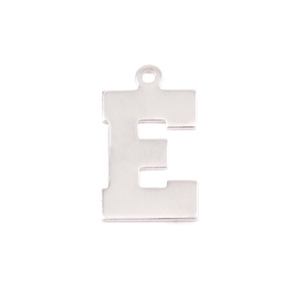 Metal Stamping Blanks Sterling Silver Letter E, 20g