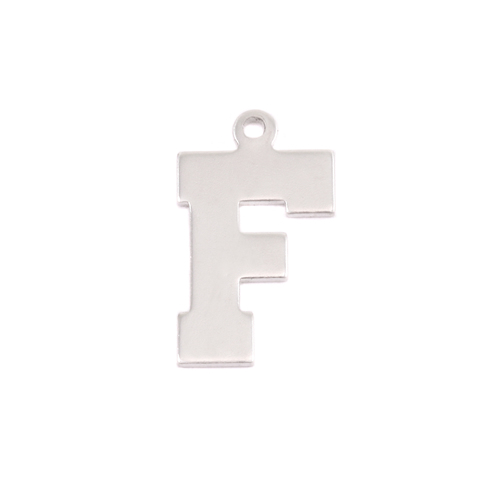 Metal Stamping Blanks Sterling Silver Letter F, 20g