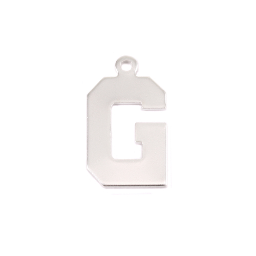 Metal Stamping Blanks Sterling Silver Letter G, 20g
