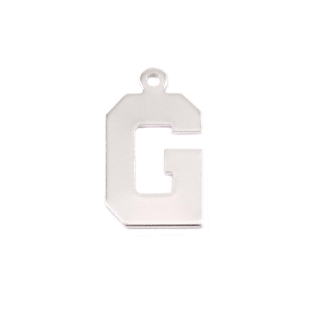 Metal Stamping Blanks Sterling Silver Letter G, 20g