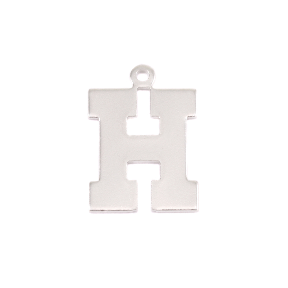 Metal Stamping Blanks Sterling Silver Letter H, 20g