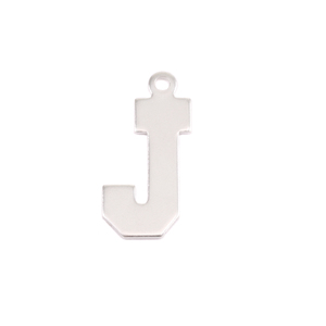 Metal Stamping Blanks Sterling Silver Letter J, 20g