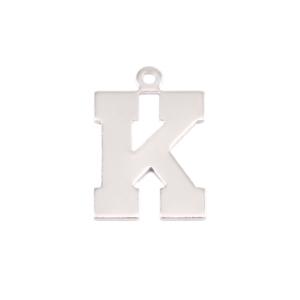 Metal Stamping Blanks Sterling Silver Letter K, 20g