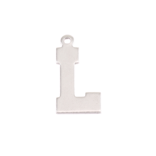 Metal Stamping Blanks Sterling Silver Letter L, 20g