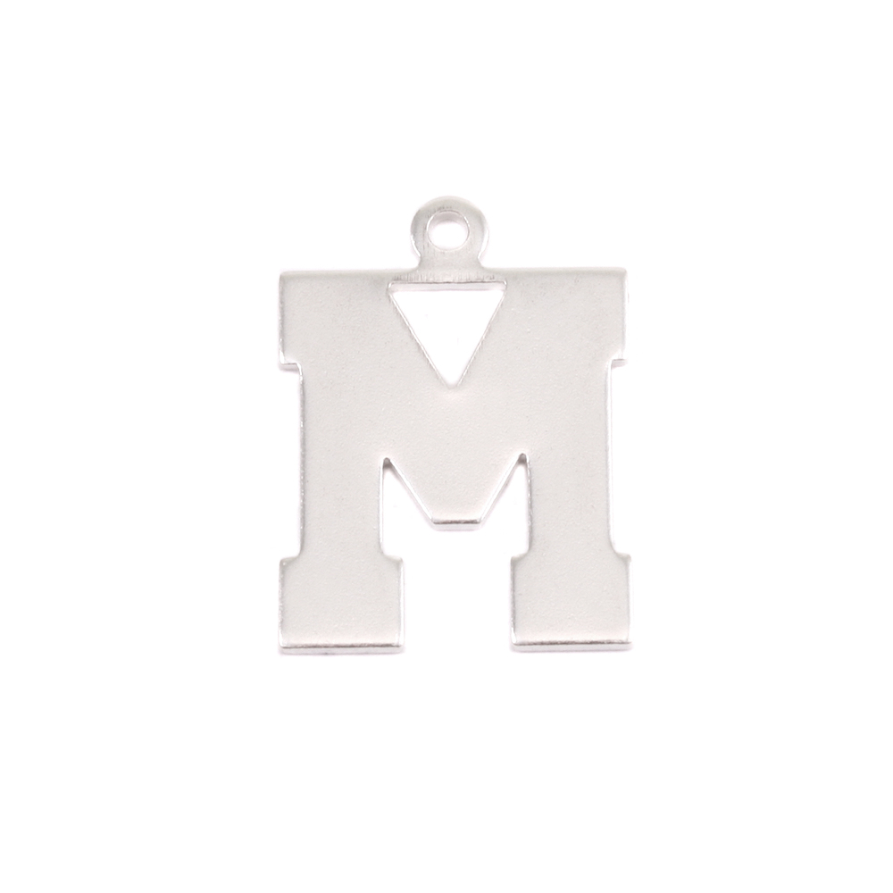 Metal Stamping Blanks Sterling Silver Letter M, 20g